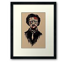 Edgar Allan Poe Zombie Framed Print