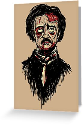 Edgar Allan Poe Zombie by Joey Gates