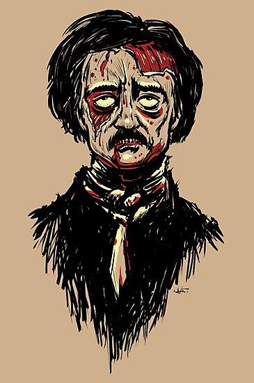 Edgar Allan Poe Zombie by Joey Gates