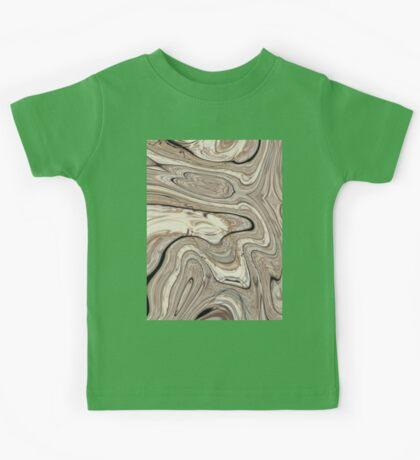 cool stone texture tan swirls brown marble swirls  Kids Tee