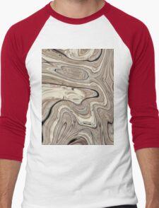 cool stone texture tan swirls brown marble swirls  Men's Baseball ¾ T-Shirt