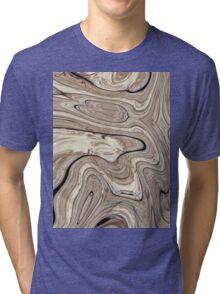 cool stone texture tan swirls brown marble swirls  Tri-blend T-Shirt