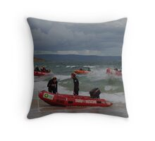 heading for the finish line  Throw Pillow