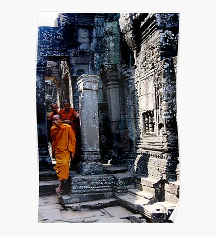 Cambodian Monks Poster
