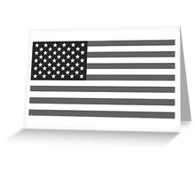 American flag USA freedom greyscale black and white Greeting Card