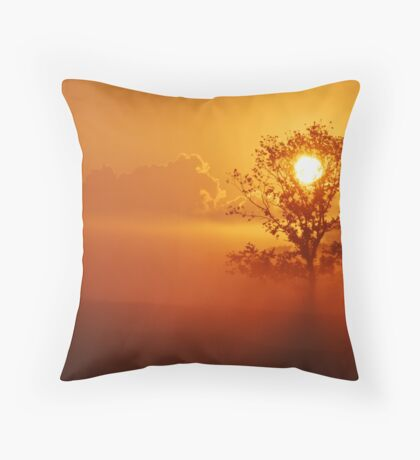 Envying the rabbits or: a perfect sunrise Throw Pillow