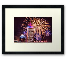Happy Fourth of July from Boston, MA Framed Print