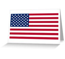 American flag USA freedom Greeting Card