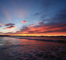 Red Sunrise, Lauderdale, Tasmania by David Jamrozik