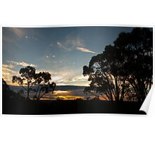 Silouette Sunset Poster