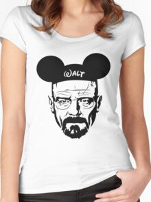Walter Mouse | Breaking Bad Parody Women's Fitted Scoop T-Shirt
