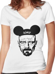 Walter Mouse | Breaking Bad Parody Women's Fitted V-Neck T-Shirt