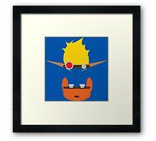 Jak & Daxter - Minimal Design Framed Print