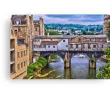 Bath, Pulteney Bridge Canvas Print