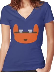 Jak & Daxter - Daxter - Minimal Design Women's Fitted V-Neck T-Shirt