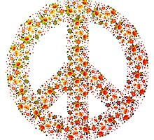 Peace sign flowers roses tulips holidays war heaven by dopebubble
