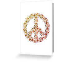 Peace sign flowers roses tulips holidays war heaven Greeting Card
