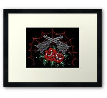 Guns & Roses Framed Print