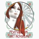 Feature  in Art Nouveau - sticker by F.A. Moore