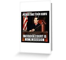 FaceBook Court Greeting Card