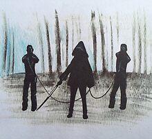 Michonne & pet zombies the walking dead by Maudster
