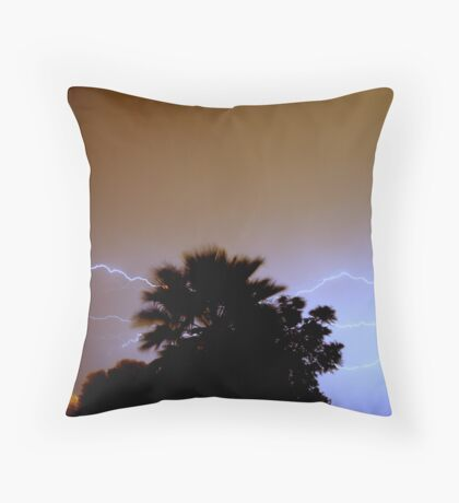 Electric Palm Throw Pillow