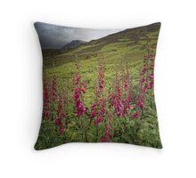 Foxgloves, Ben Loyal, Sutherland, Scotland Throw Pillow