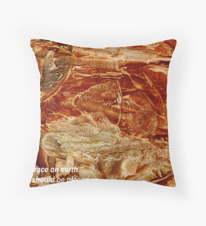 Trace on Earth Throw Pillow
