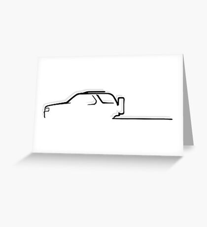 Off-road passion - black Greeting Card