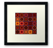 Orange Crazy Quilt Framed Print