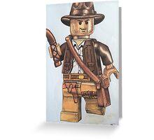 Lego Indiana jones minifigure Greeting Card