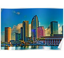 City of Tampa, Skyline  HDR 23 Exposures Poster