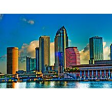City of Tampa, Skyline  HDR 23 Exposures Photographic Print