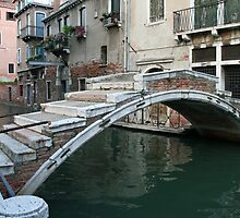 old venetian bridge by Angelo Vianello