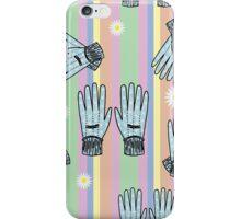 Seamless Hand-Drawn Gardening Gloves Background iPhone Case/Skin