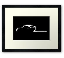 Off-road passion - white Framed Print