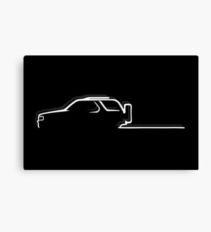 Off-road passion - white Canvas Print