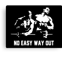 Rocky no easy way out Canvas Print