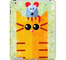 Summer funny cat with mouse iPad Case/Skin