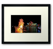 Fire Water (Sydney - Campbells Cove, The Rocks) Framed Print