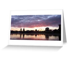 Nagambie Sunrise Greeting Card