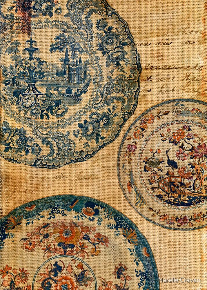antique plates by Narelle Craven