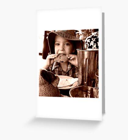 Cookie Monstar Greeting Card