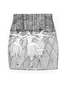 Ladies Dancing Mini Skirt