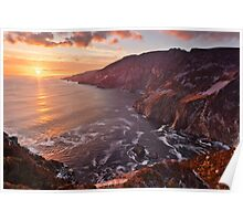 Setting Sun At Slieve League Poster