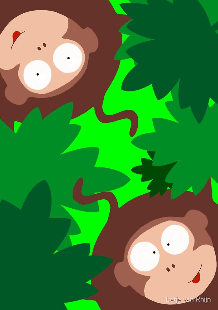 Monkey business by Letje van Rhijn
