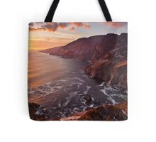 Setting Sun At Slieve League Tote Bag