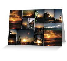 Cottesloe Sunset Collage Greeting Card