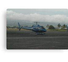 Blue Hawaiian Helicopter Canvas Print
