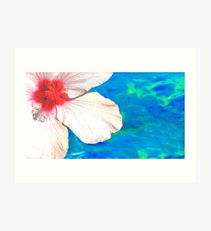 pool hibis... Art Print